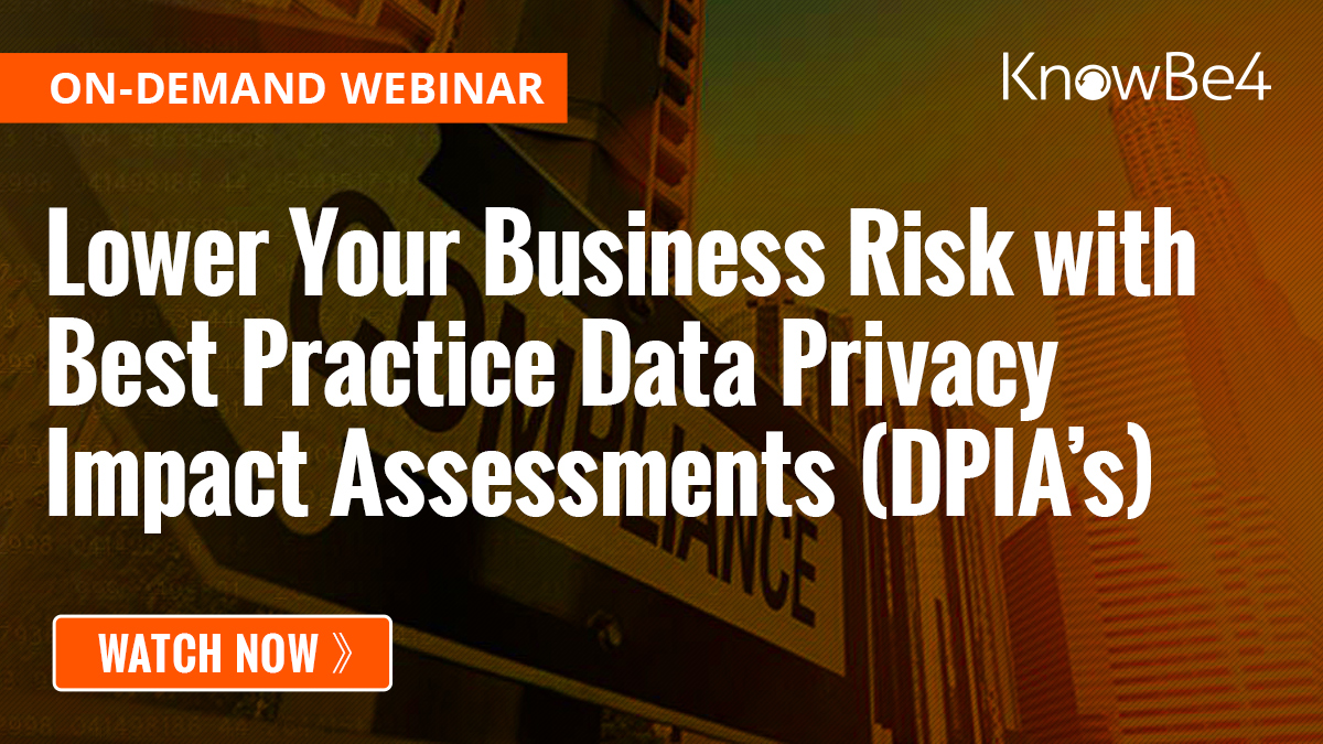 Lower Your Business Risk With Best Practice Data Privacy Impact Assessments (DPIA's)
